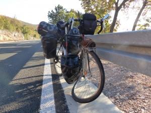 Bicicleta de Max tras el accidente
