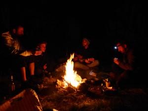 Gran noche junto al fuego